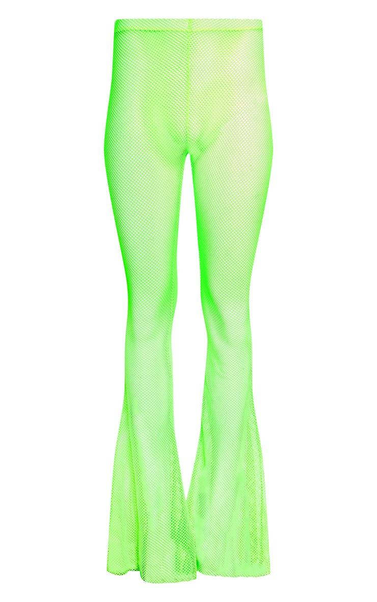 Neon Lime Fishnet Flares 3