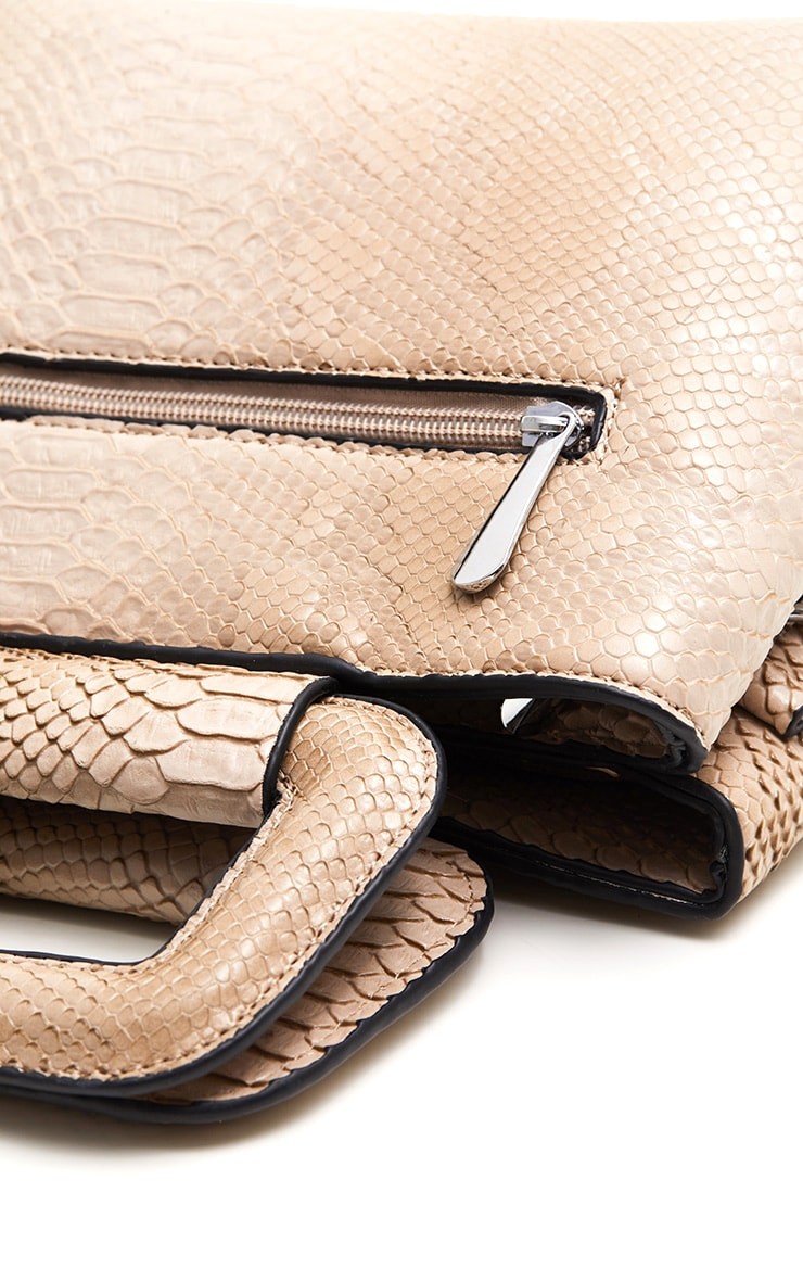 Beige Snake Mini Bag 4