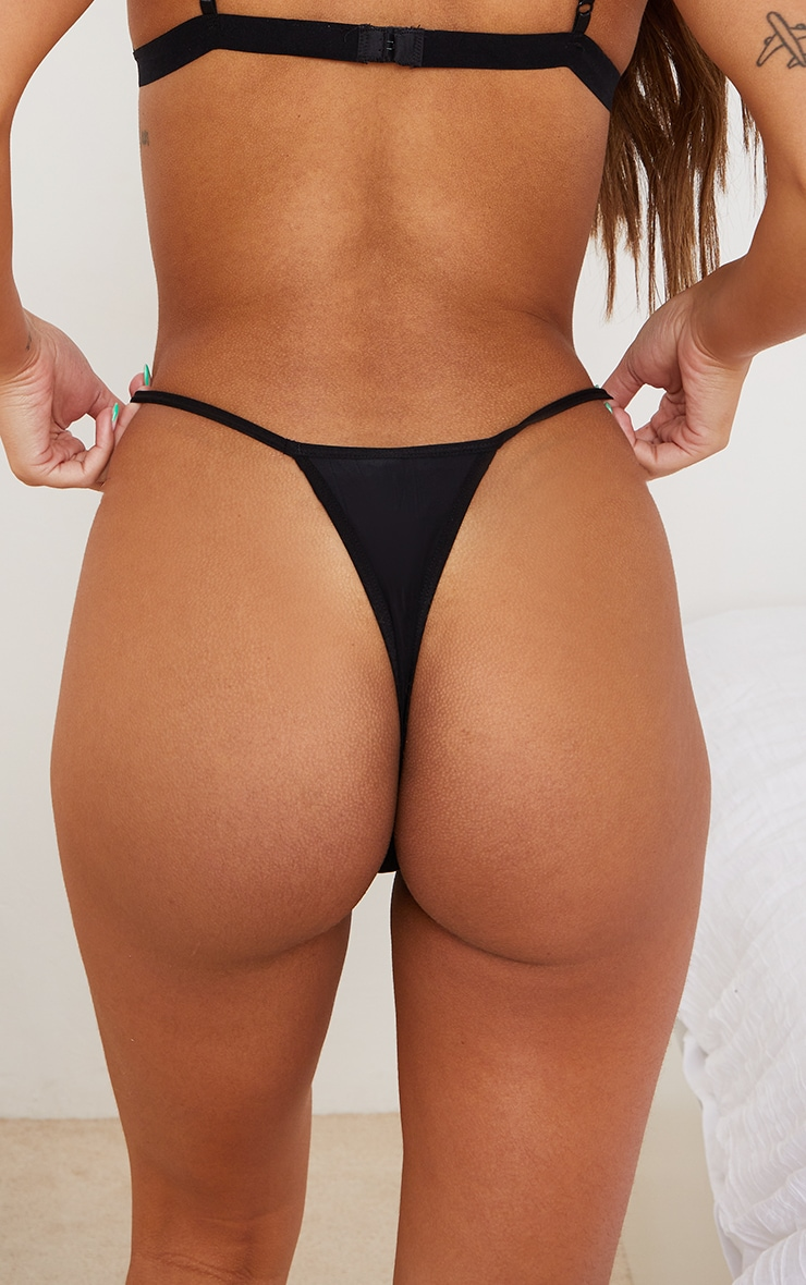 Black Microfibre Thong 3 Pack 2