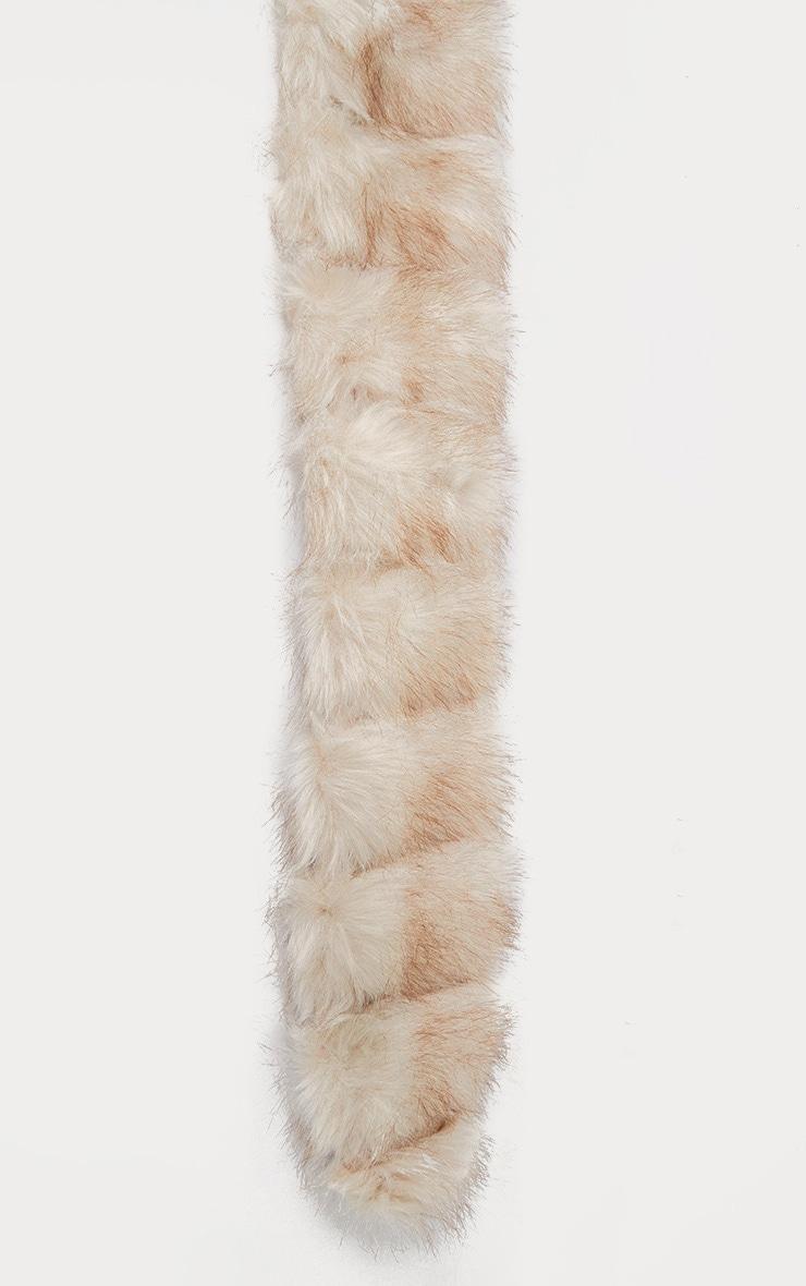 Grey Faux Fur Scarf 2