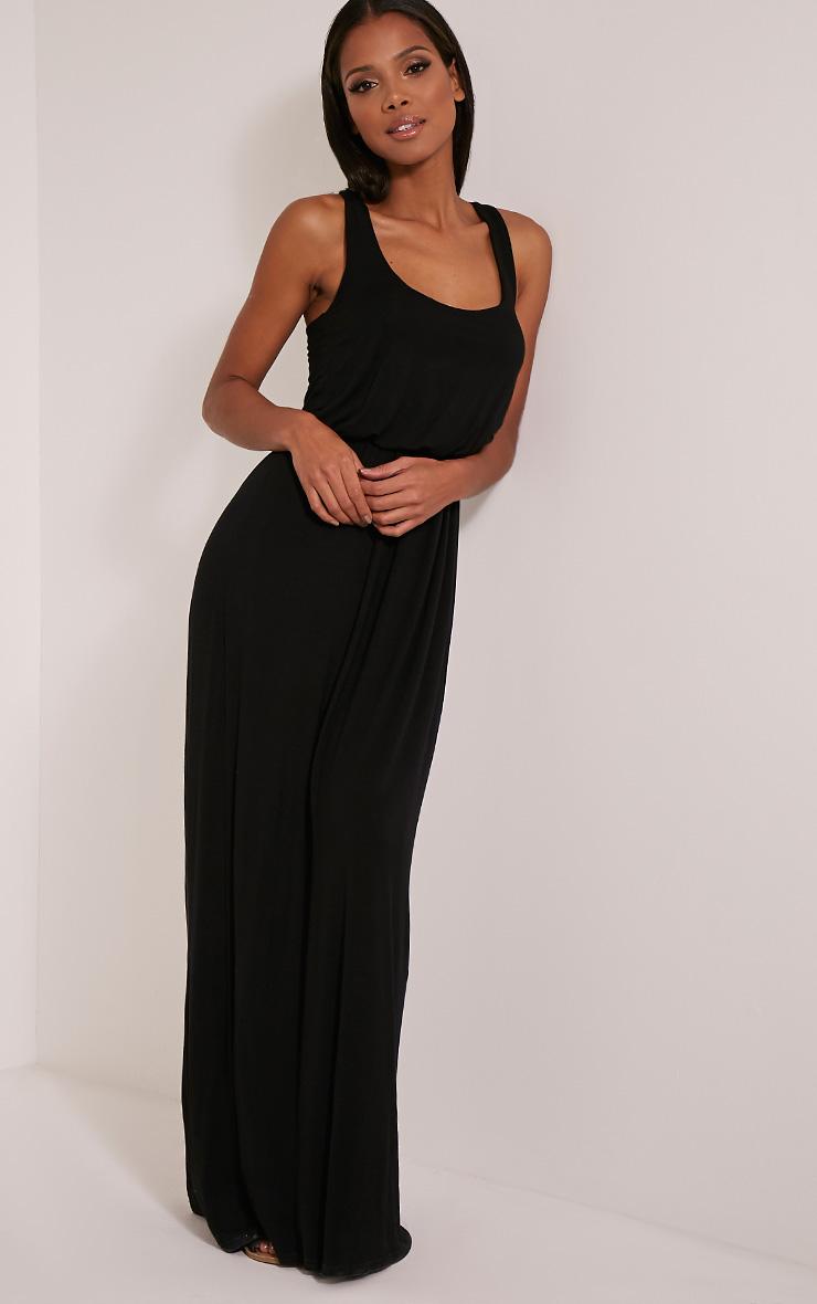 Basic robe dos nageur maxi noire 6