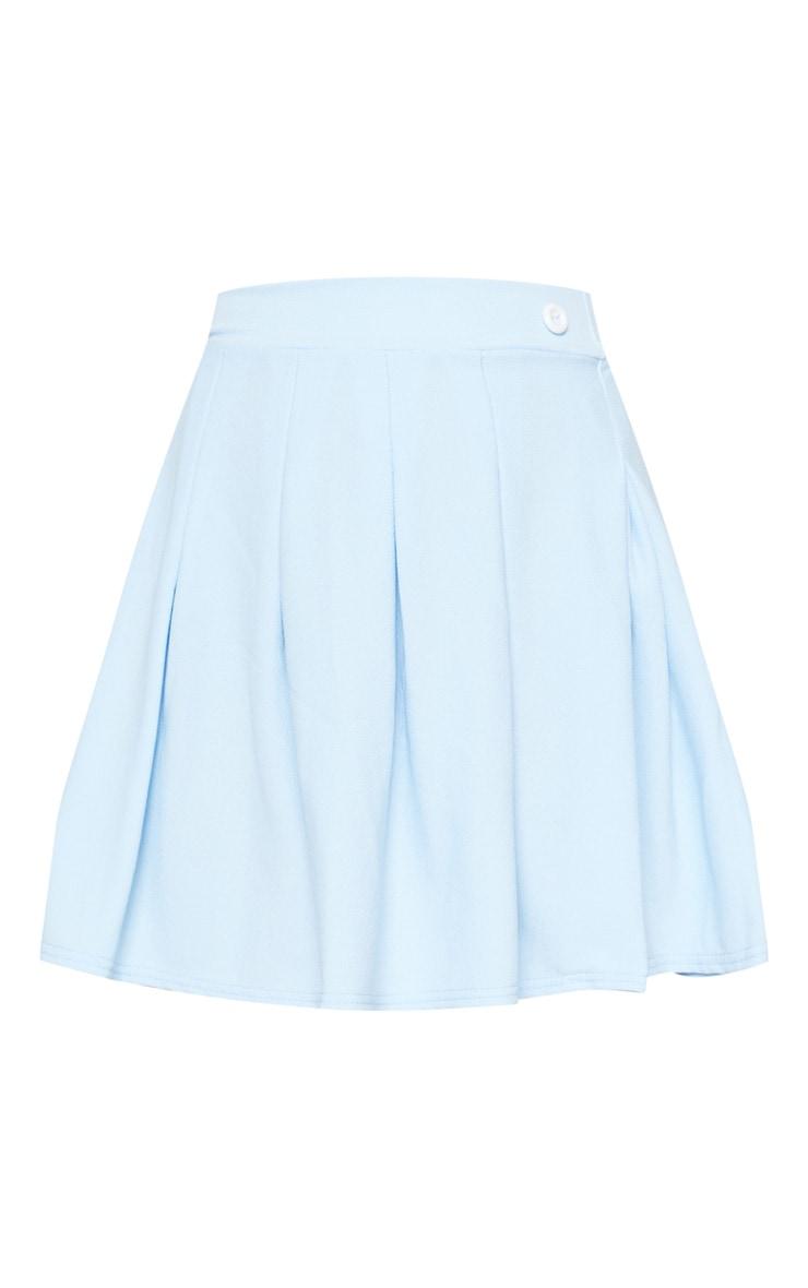 Pastel Blue Pleated Tennis Skirt 3