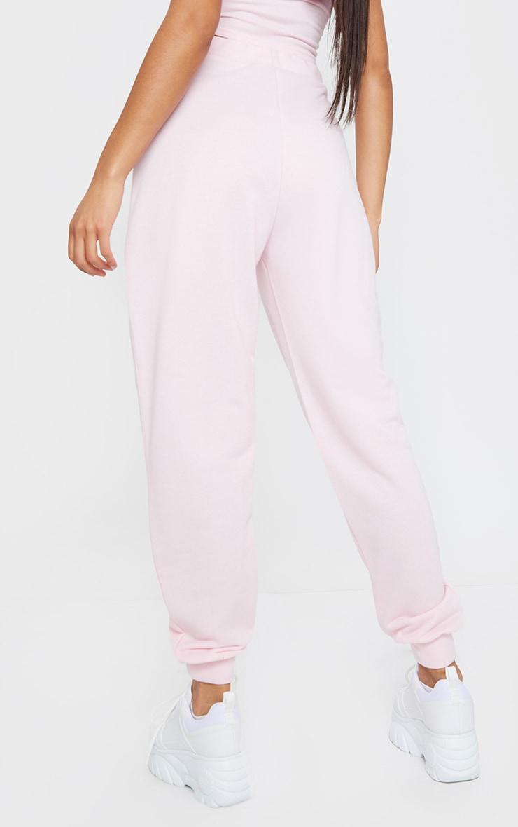 Light Pink High Waist Cuffed Joggers 3