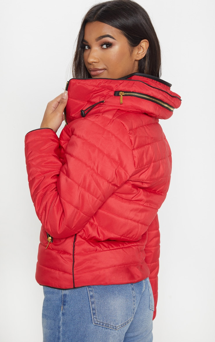 Mara Red Puffer Jacket 2