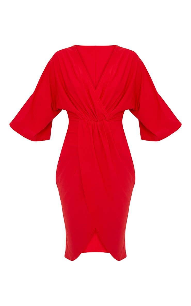 Archer Red Cape Midi Dress 3