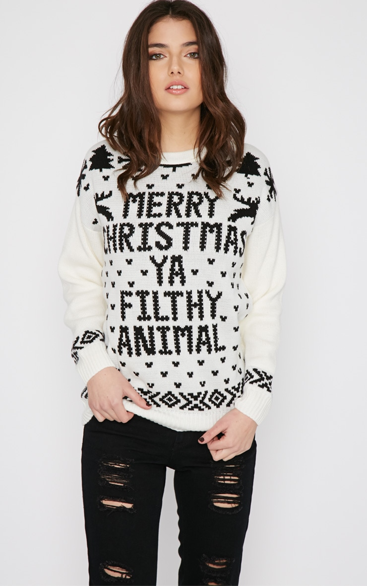 Sarah White Filthy Animal Christmas Jumper 1