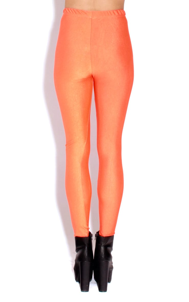 Chloe Orange High Waisted Disco Pants 2