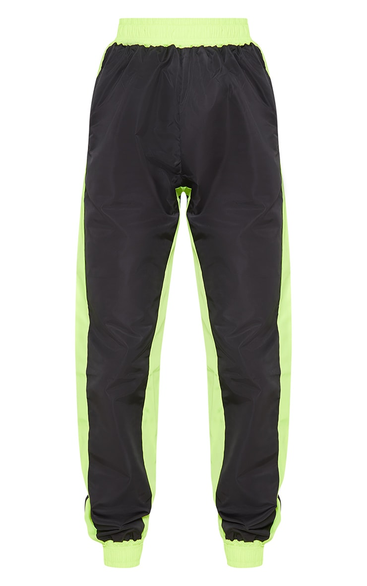Black Contrast Panel Shell Jogger 3