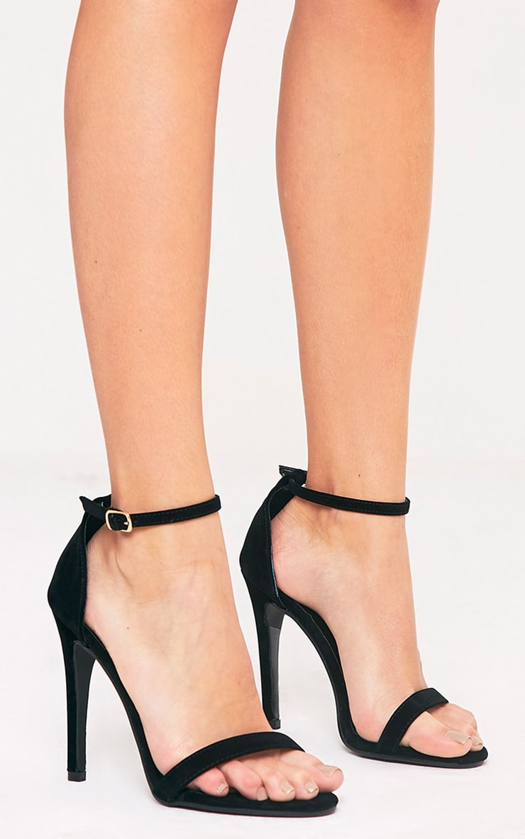 Clover Black Strap Heeled Sandals 3