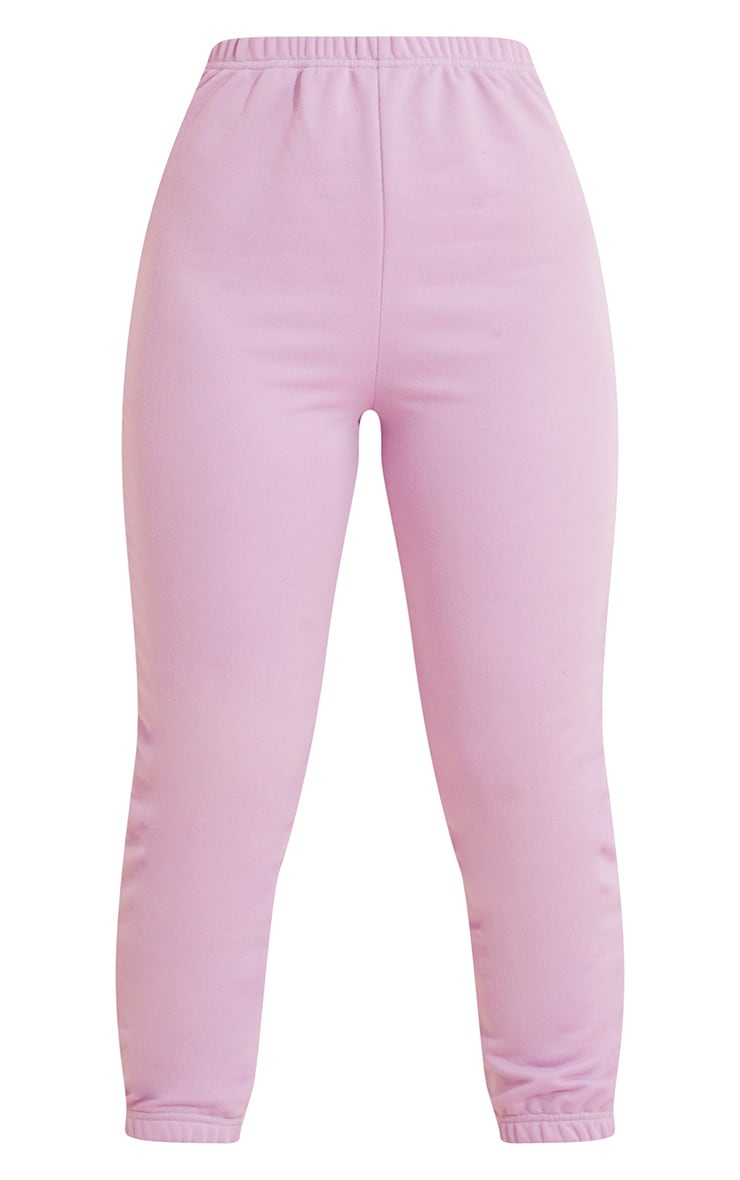 Lilac Basic Slim Fit Joggers 5