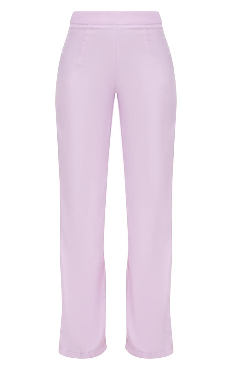 Petite Lilac Woven Wide Leg Suit Trousers 3