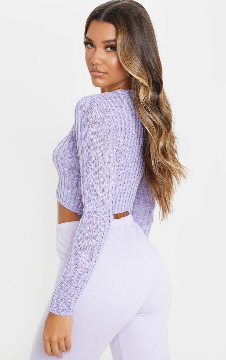 Lilac Skinny Fit Cardigan 2