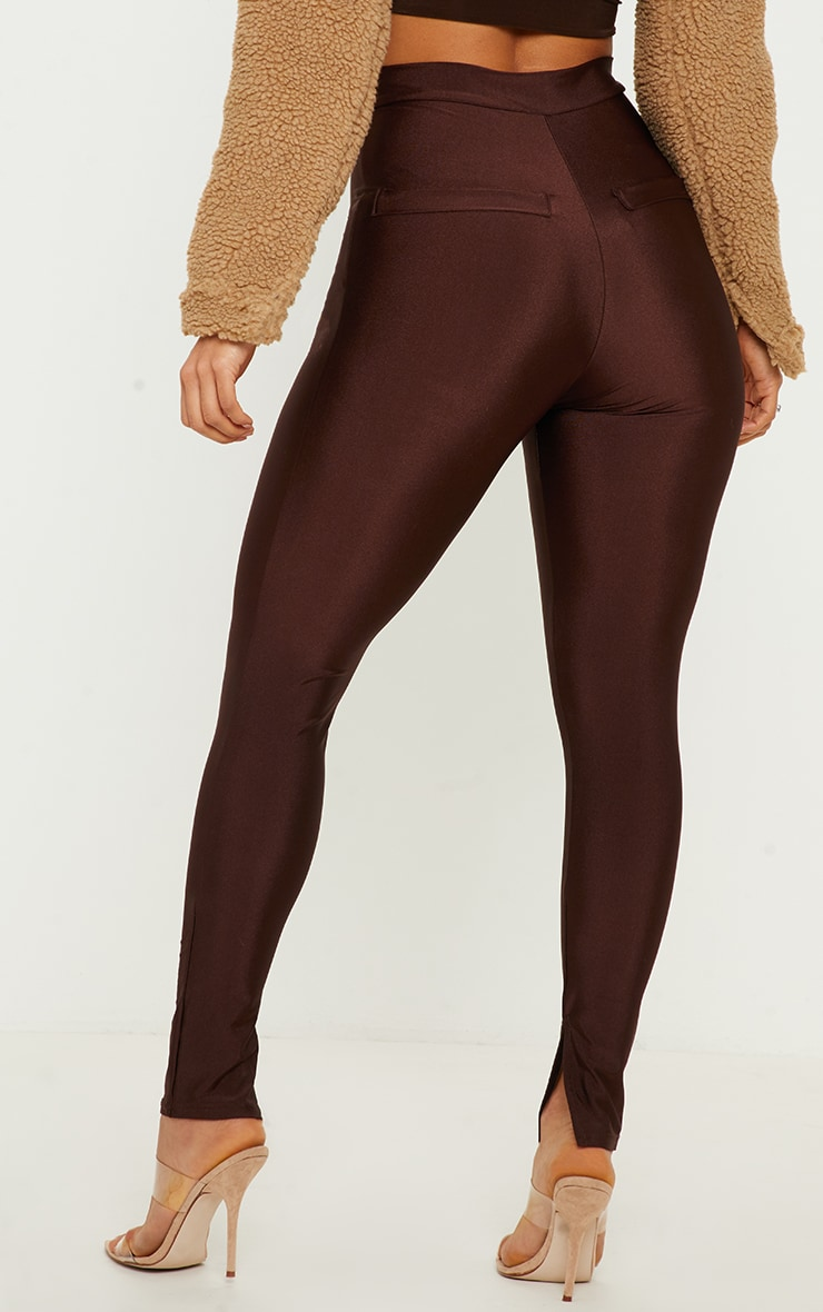 Chocolate Disco Split Hem Skinny Trouser  4