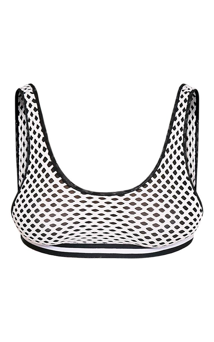 Aadila Black Mesh and Fishnet Detail Sports Style Bra 5