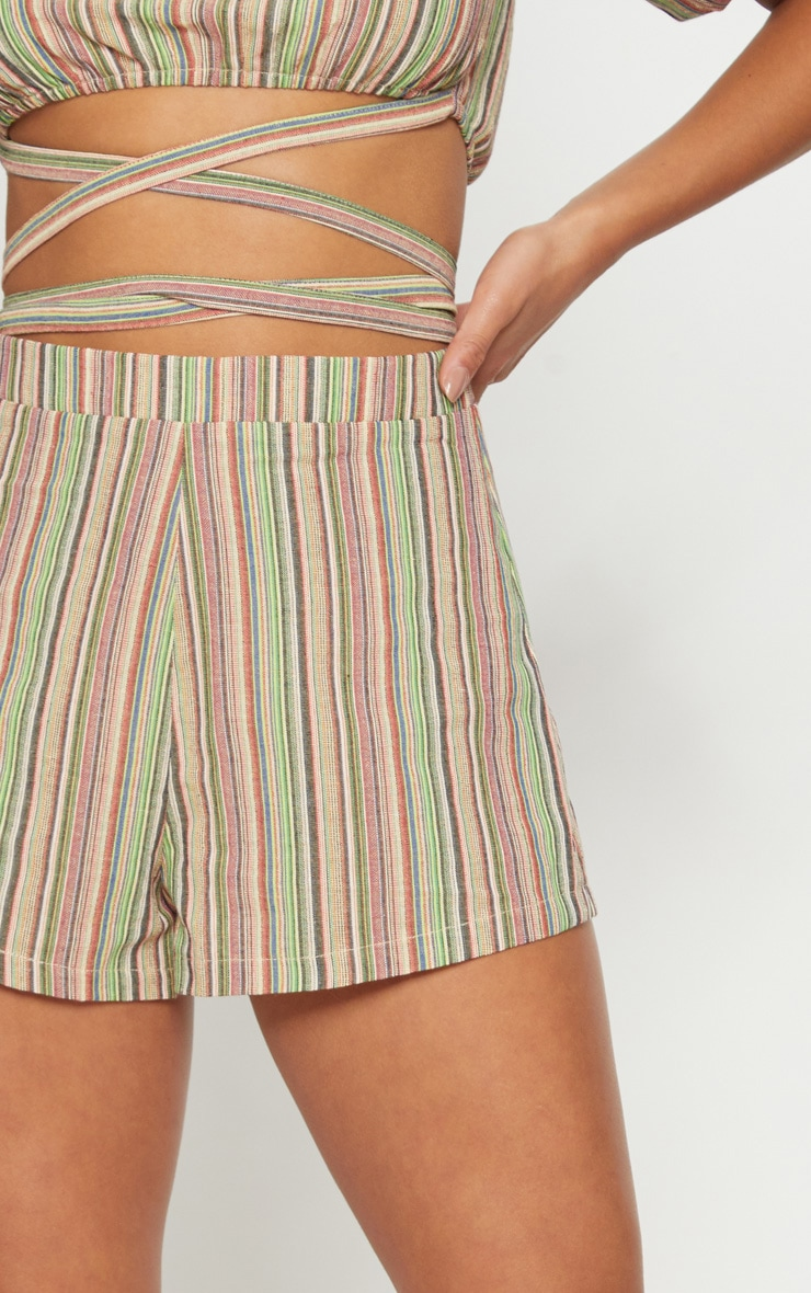 Petite line Striped Shorts 6