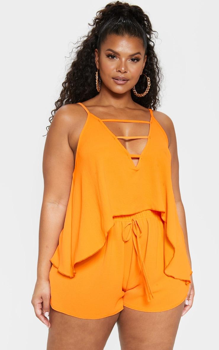 b011815ef94 Plus Bright Orange Cami Top | Plus Size | PrettyLittleThing