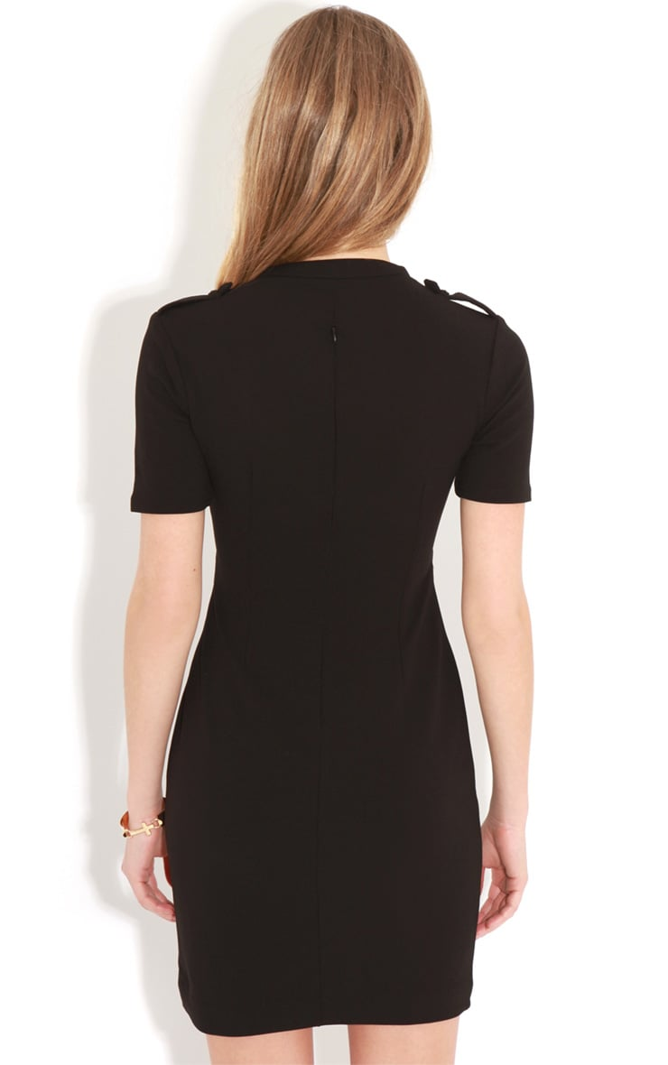 Izadora Black Cut Out Buckle Dress 2