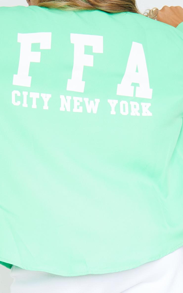 Green Buffalo New York Graphic Oversized Shirt 4