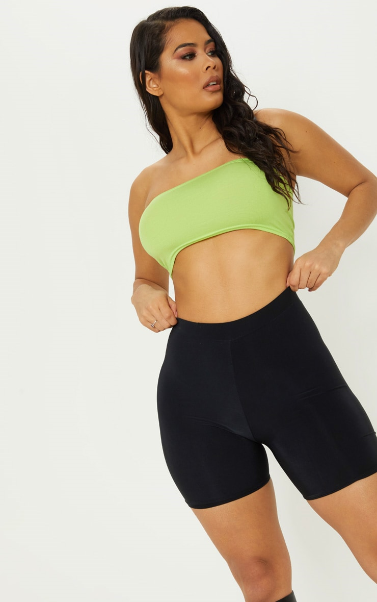 Basic Neon Lime Jersey Bandeau Top 5