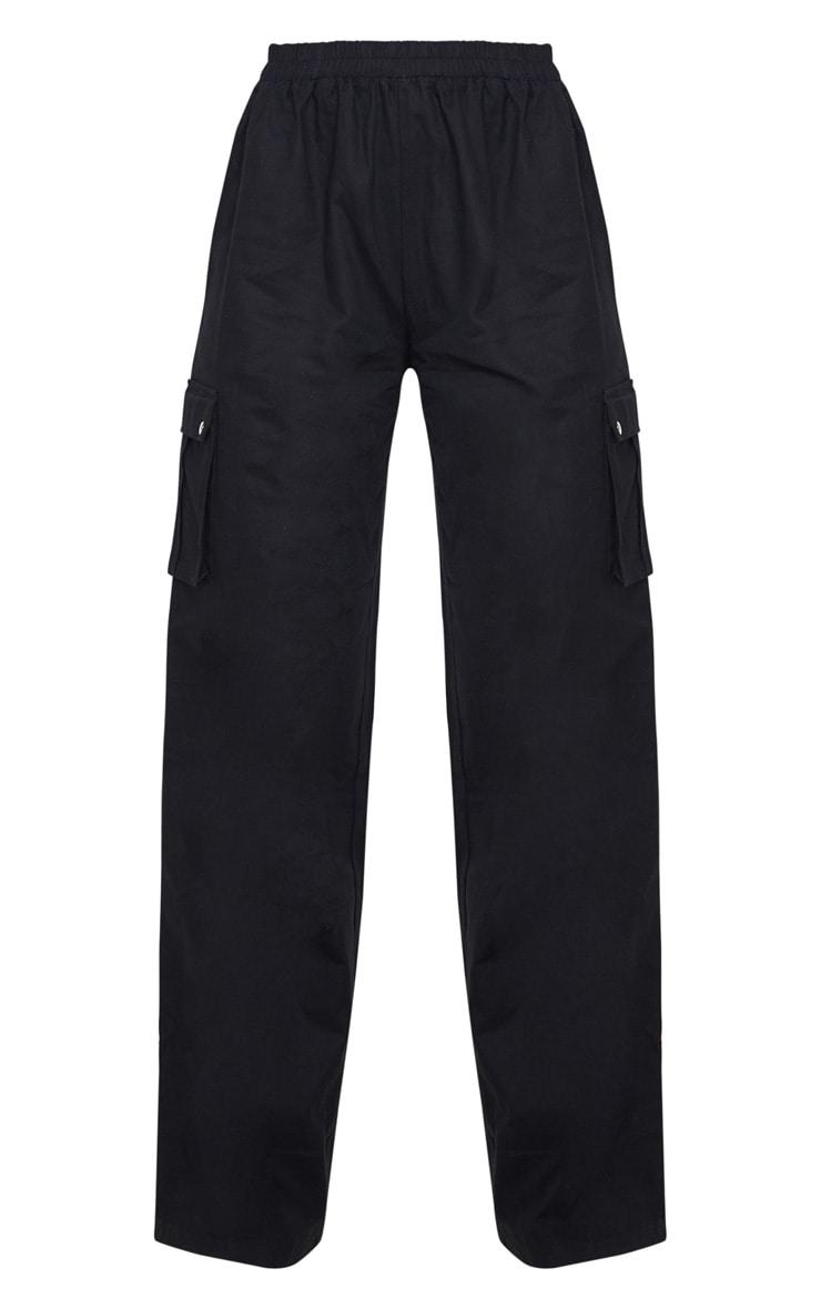 Pantalon large noir style cargo 6