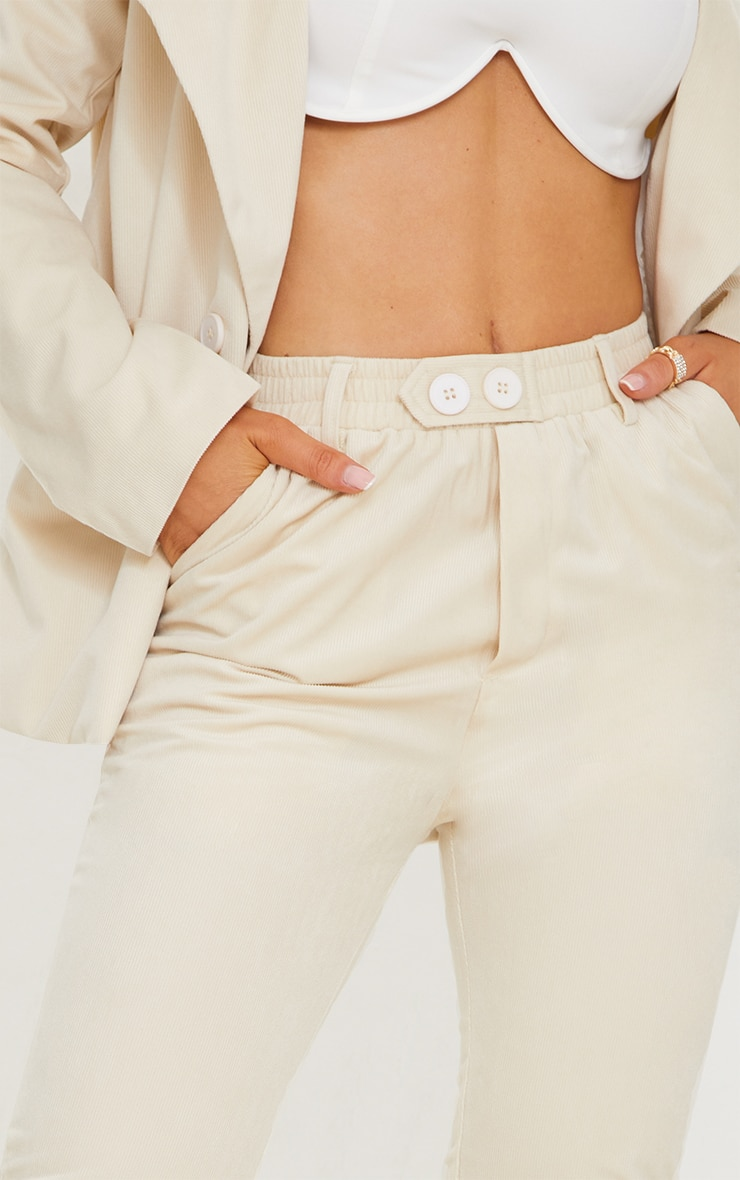 Cream Cord Flared Trousers 4