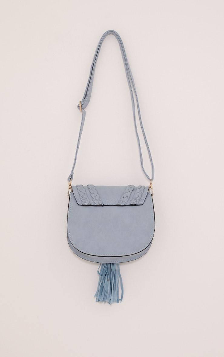 Beti Baby Blue Tassel Shoulder Bag 3
