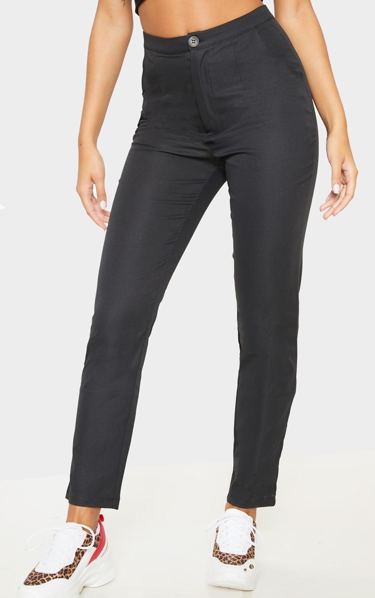 Black Button Detail Trouser 2