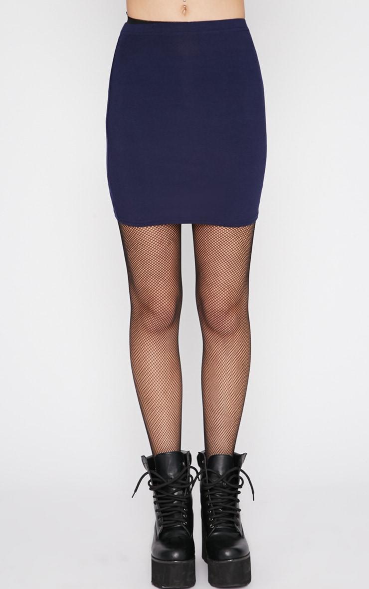 Margot Navy Jersey Mini Skirt 4