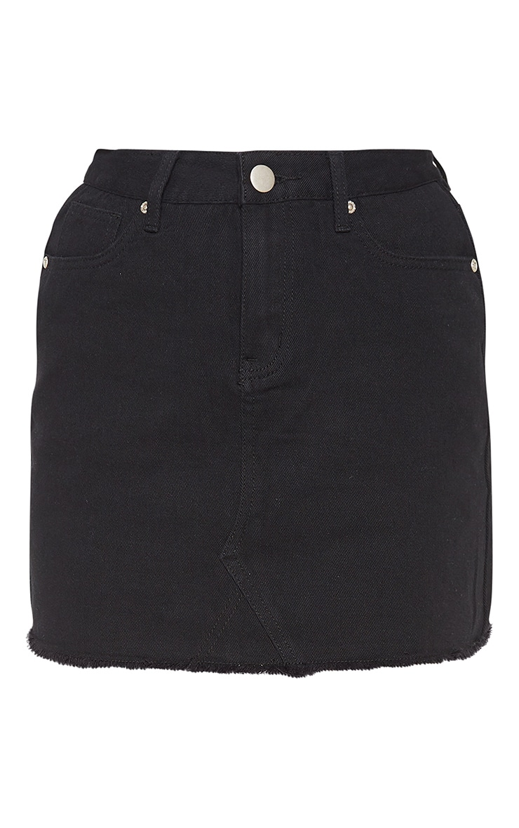Basic Black Denim Skirt 3