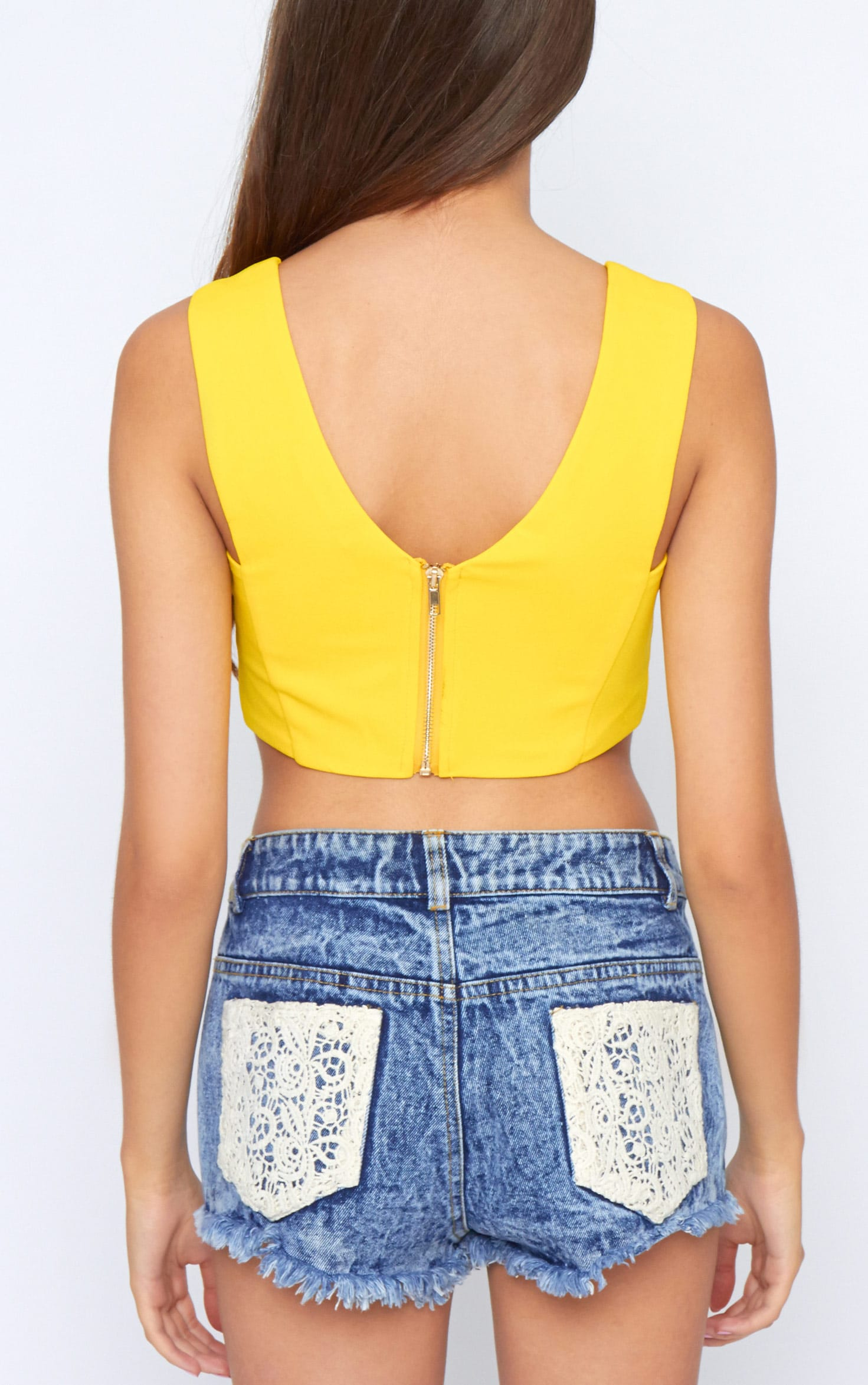 Serenity Yellow Low V Bralet 2
