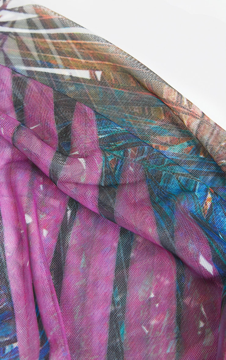 Multi Leaf Print Bandanna 2