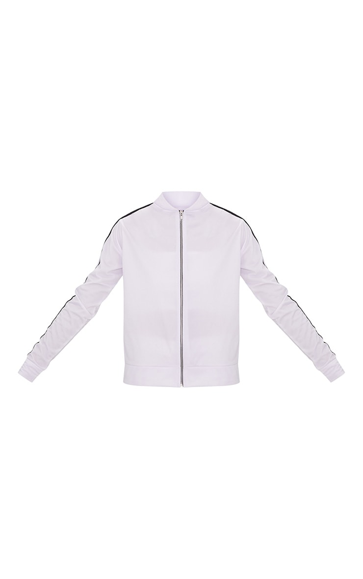 White Sport Stripe Tracksuit Top  3