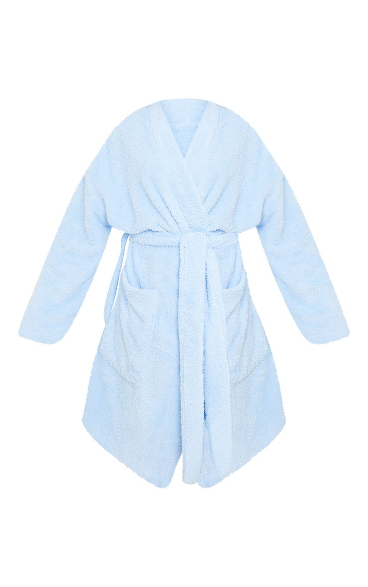 Baby Blue Oversized Fluffy Dressing Gown 5