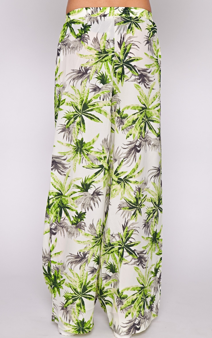 Jocelyn Green Leaf Print Trouser -L 4