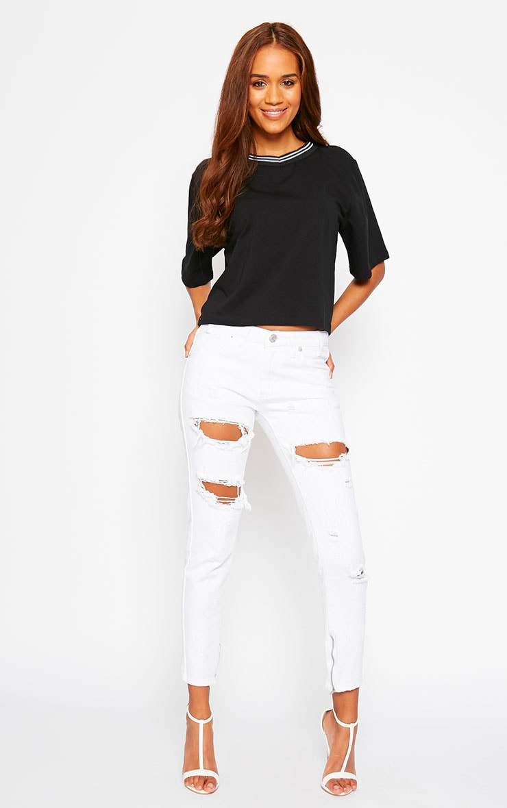 Lulu Black Sports Trim Loose Fit Tee 3