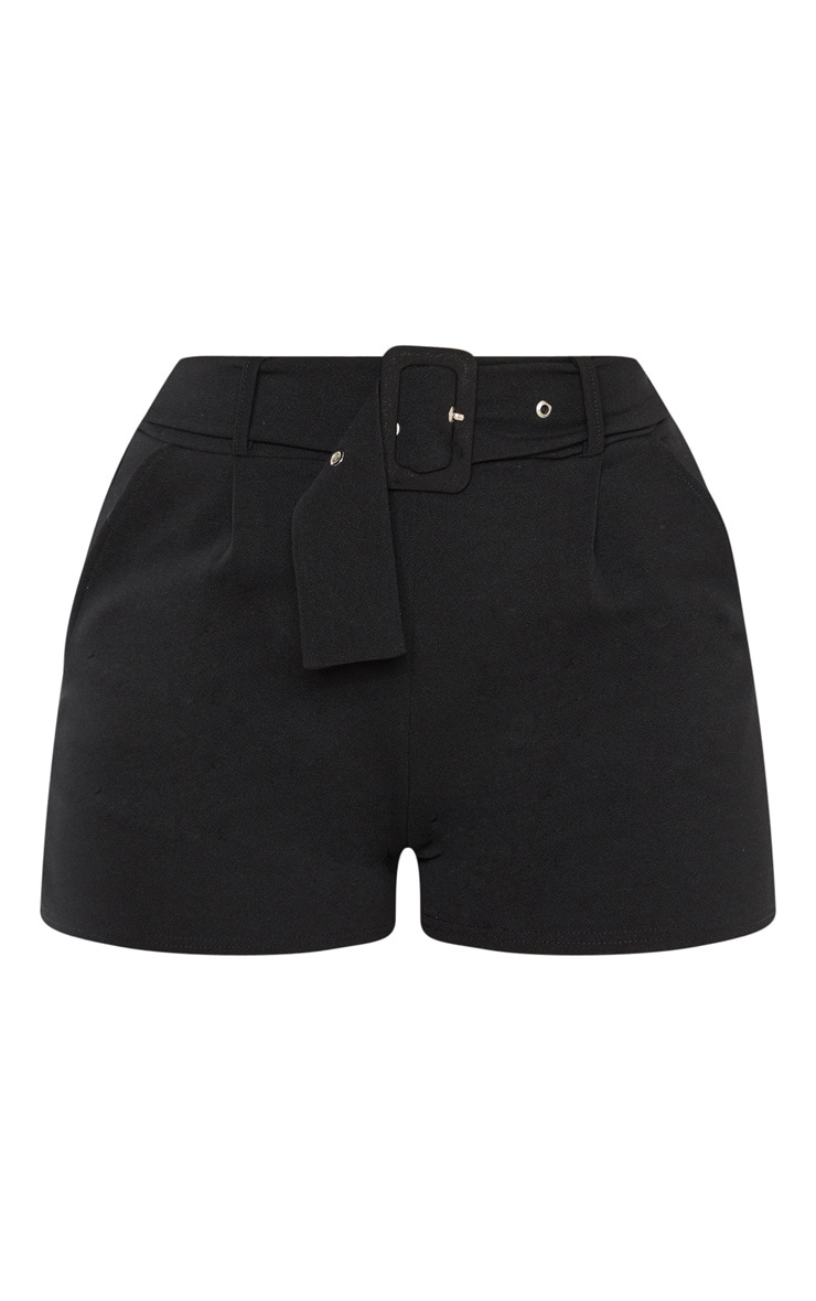 Black Belted Tailored Short 3