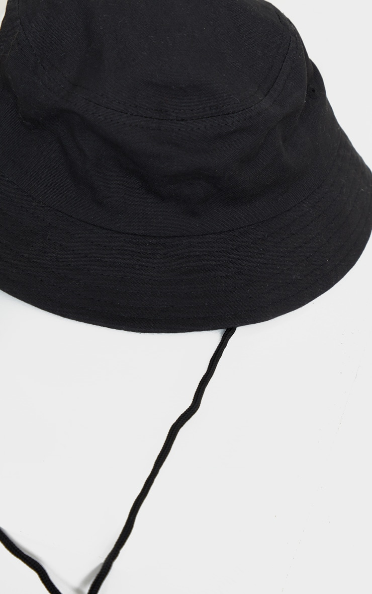 Black Toggle Bucket Hat 3