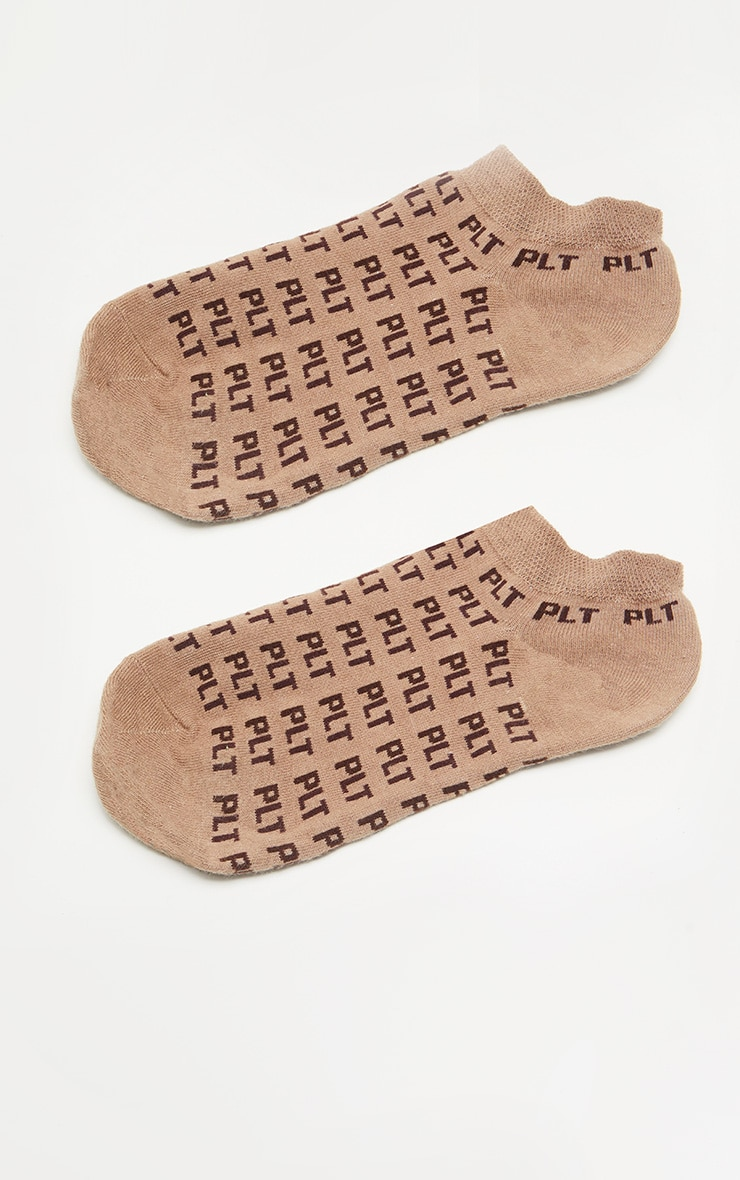 PRETTYLITTLETHING Light Brown Mono Trainer Socks 3