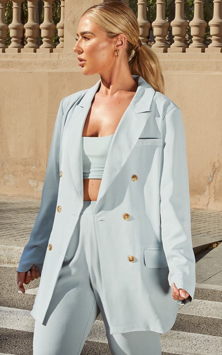 Petite Dark Mint Tailored Blazer 1
