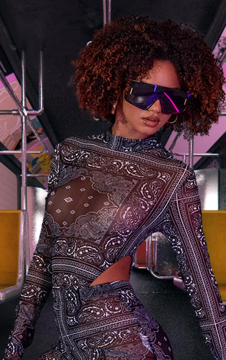 Black Reflective Sunglasses 1