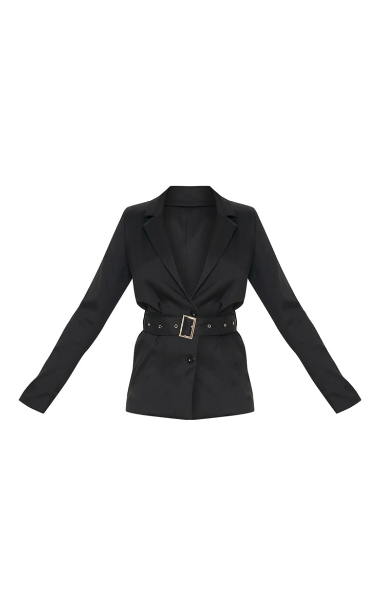 Tall Black Belted Blazer 3
