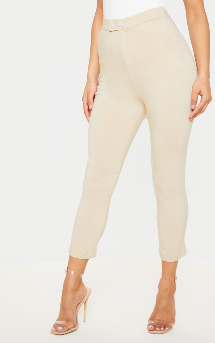 Simi Cream High Waisted Jeggings 3