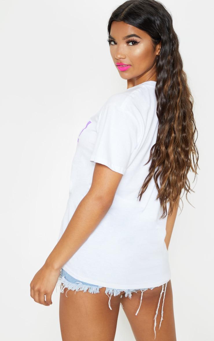 UNISEX White PROUD Oversized T-shirt  3