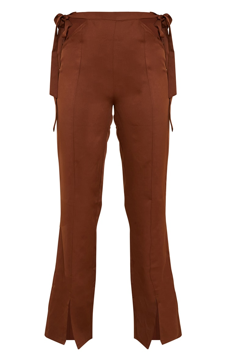 Chocolate Cut Out Waist Tailored Pants 5