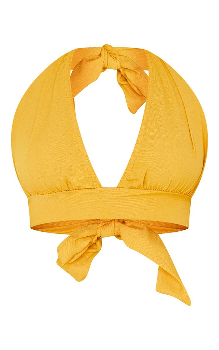 Orange Woven Halter Tie Bralet 5