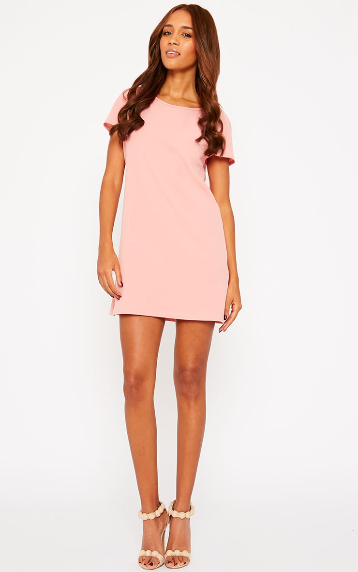 Camila Pink Loose Fit Shift Dress 3