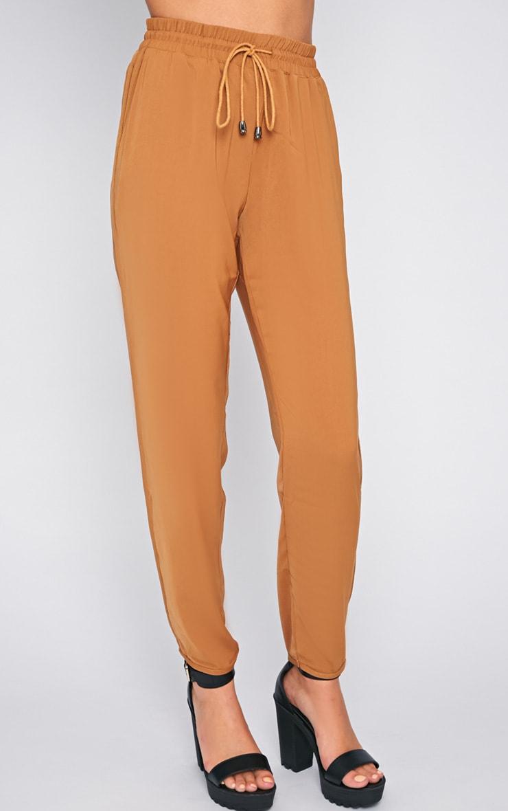 Lexi Camel Drawstring Trouser 4