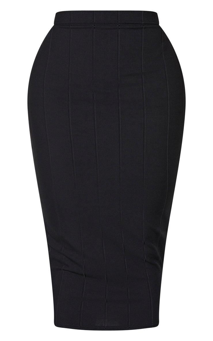 Shape Black Bandage High Waist Midi Skirt 5
