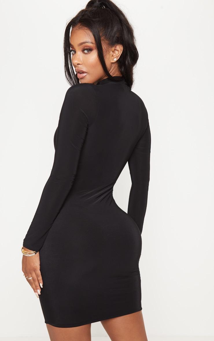Shape Black Slinky High Neck Bodycon Dress 2
