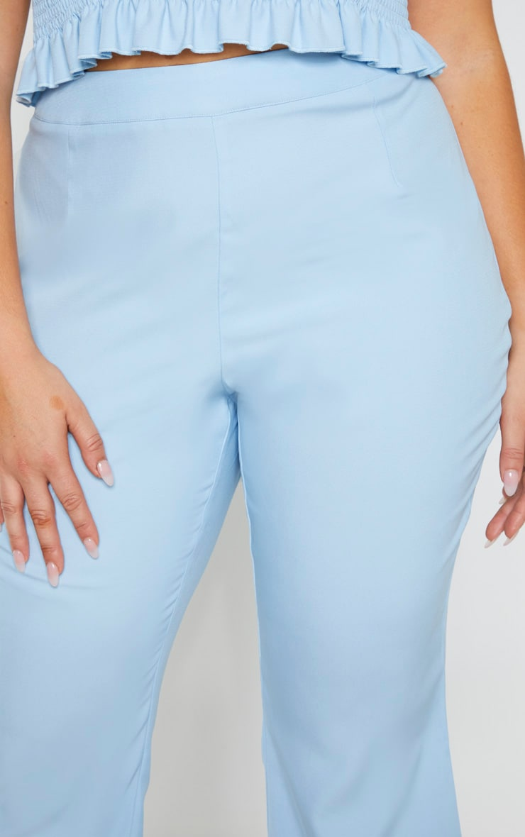 Plus Dusty Blue Crop Straight Leg Trouser 5
